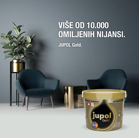 JUPOL Gold - več kot 10.000 najljubših barv